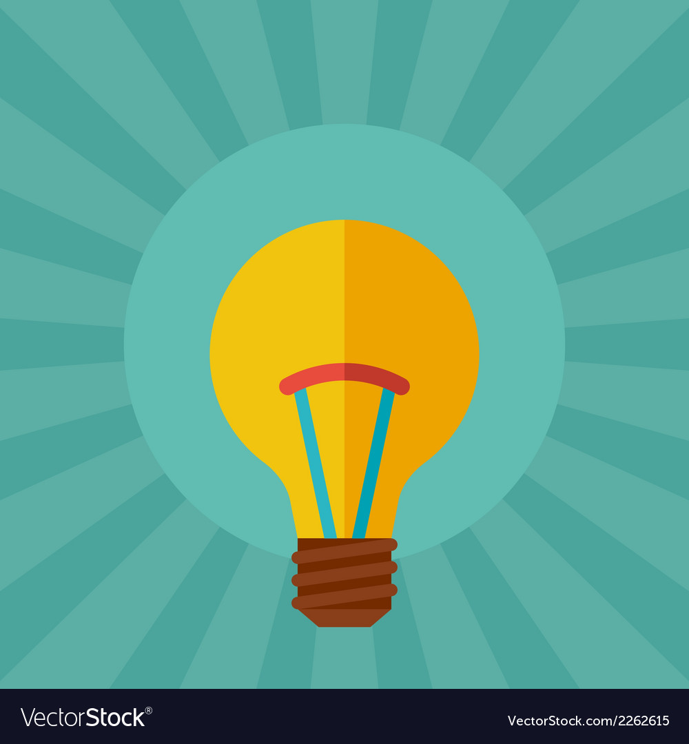 Light bulb idea concept in flat style vector | Price: 1 Credit (USD $1)