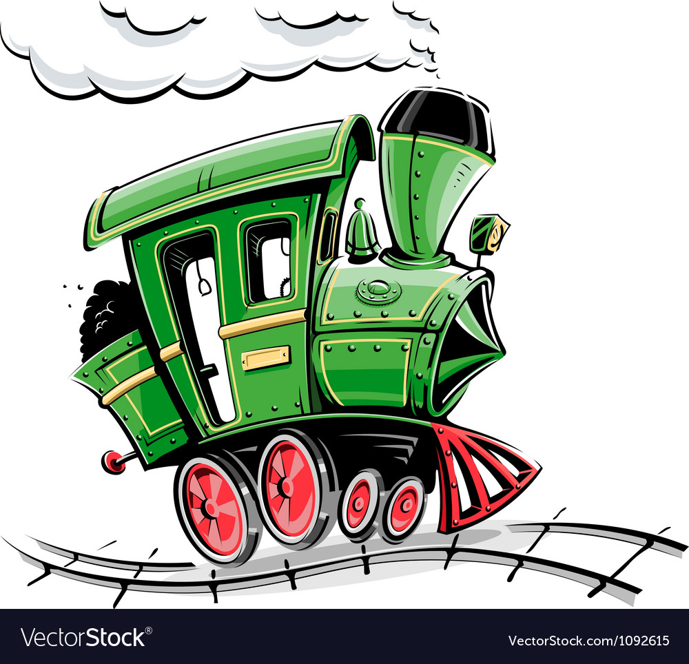 Retro cartoon locomotive vector | Price: 3 Credit (USD $3)
