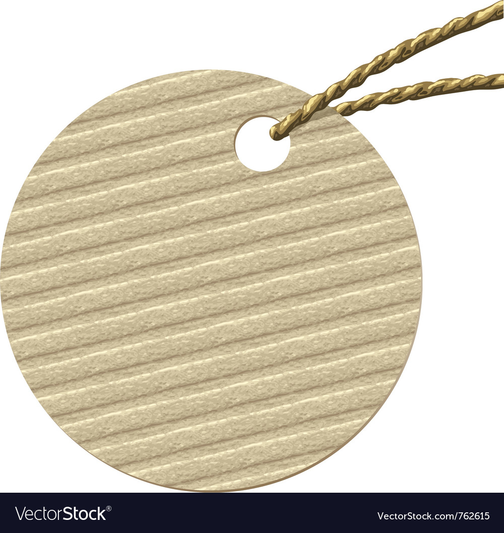 Round cardboard tag vector | Price: 1 Credit (USD $1)