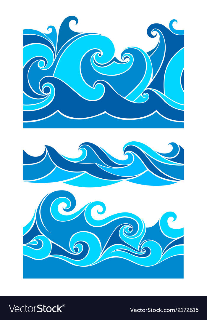 Set vektor waves vector | Price: 1 Credit (USD $1)