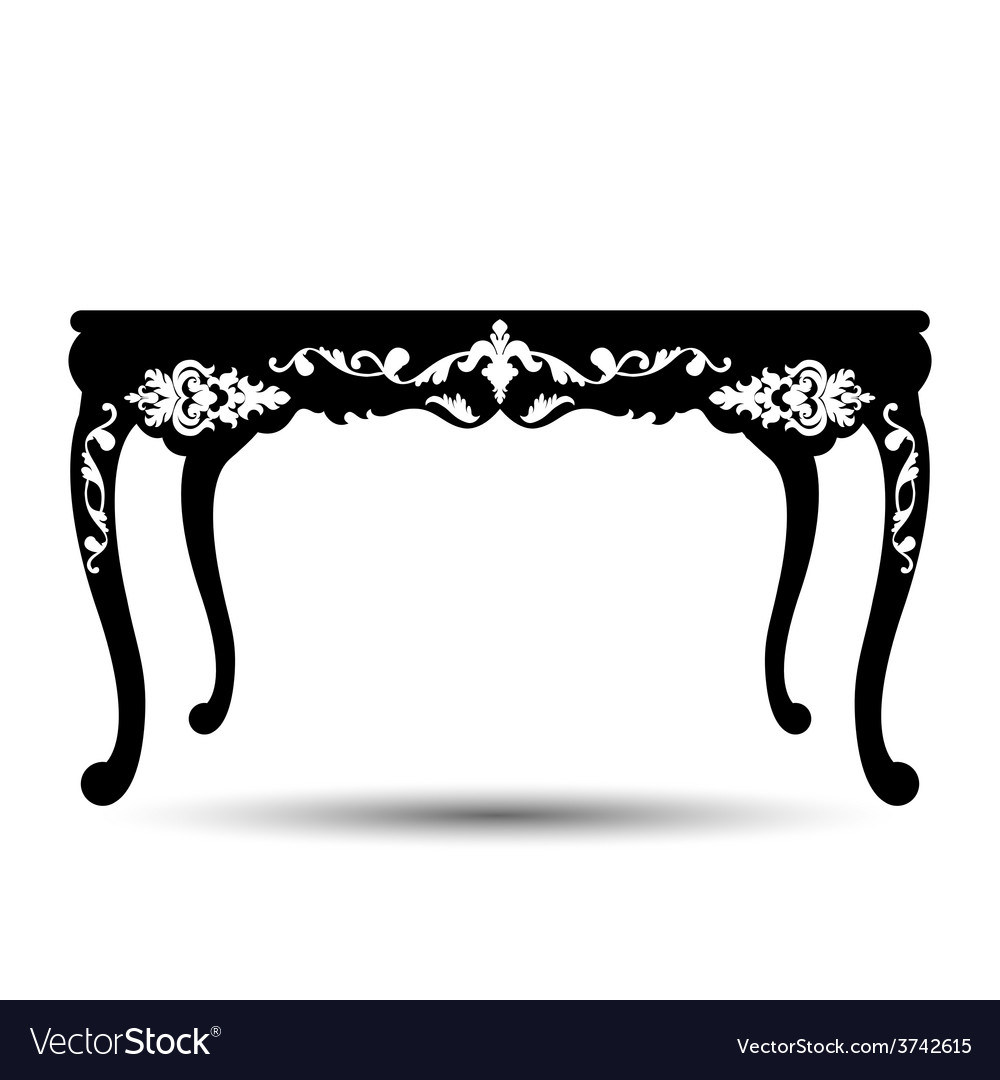 Silhouette of table vector | Price: 1 Credit (USD $1)