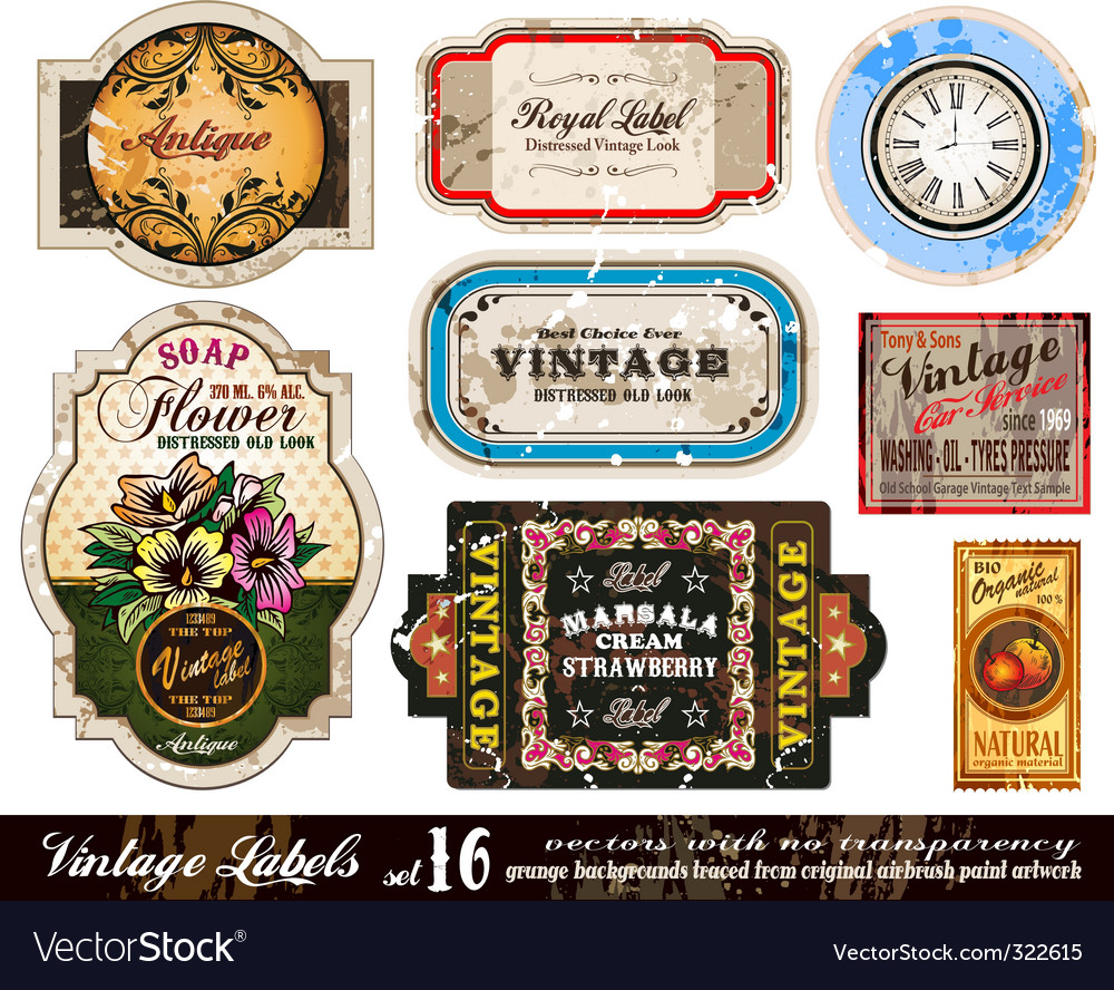 Vintage labels collection vector | Price: 1 Credit (USD $1)