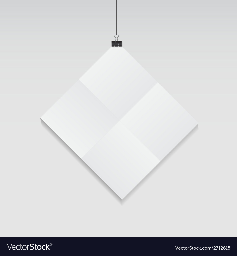 White blank page with clip vector | Price: 1 Credit (USD $1)