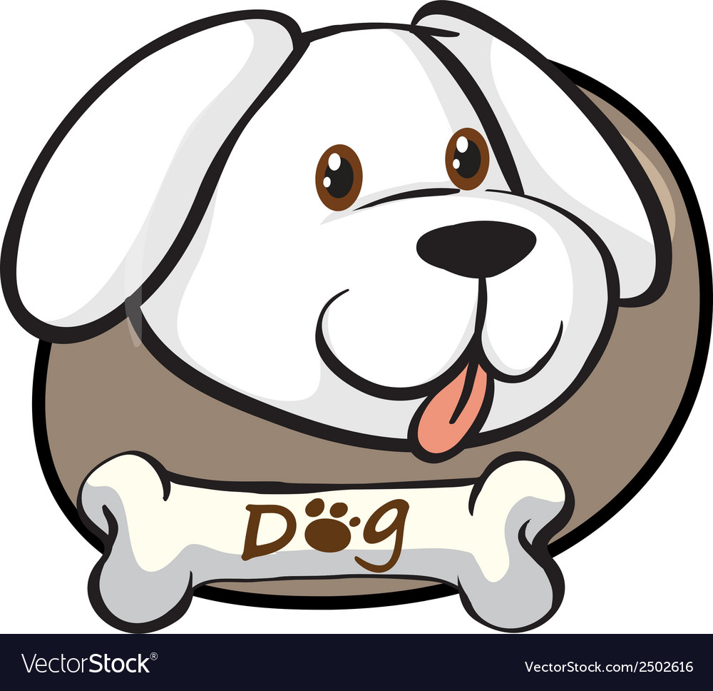 A head of a cute white dog vector | Price: 1 Credit (USD $1)