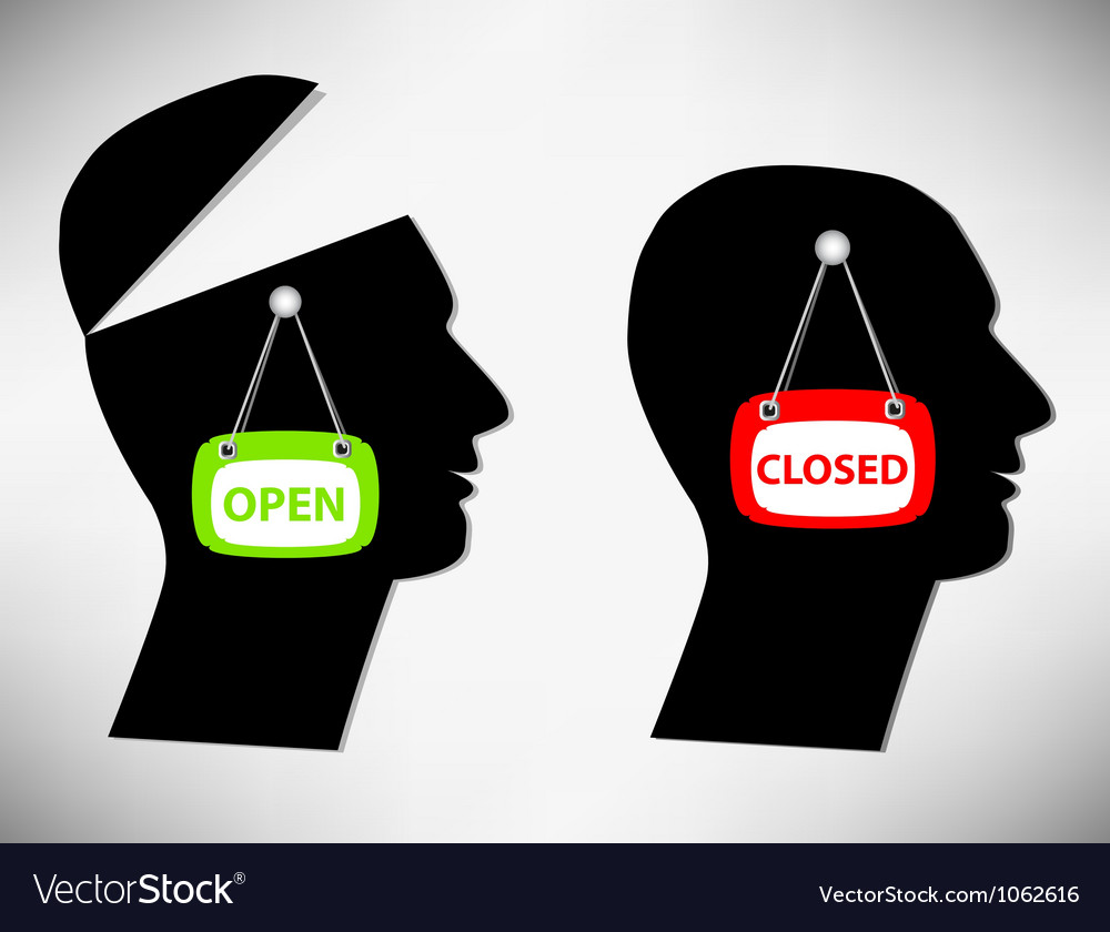 Conceptual of a man a person with an open head cov vector | Price: 1 Credit (USD $1)