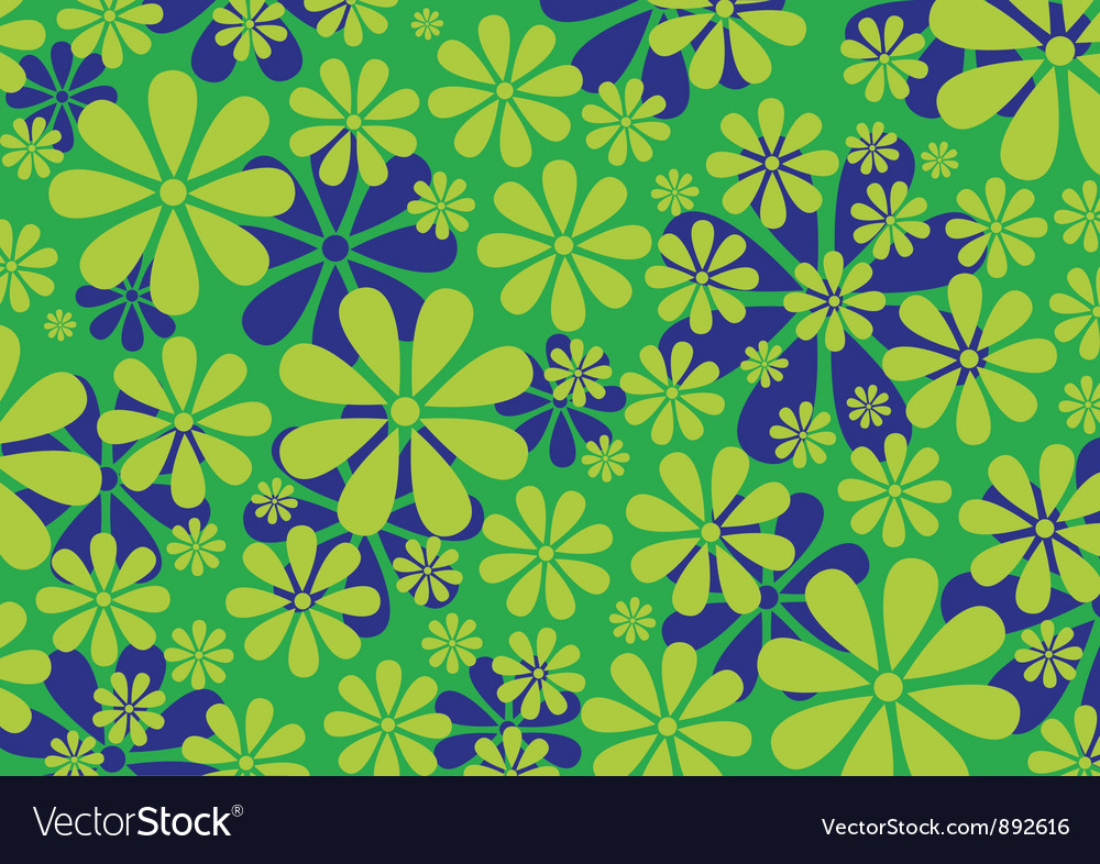 Daisy pattern background vector | Price: 1 Credit (USD $1)