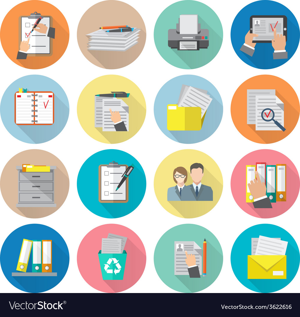 Document icon flat vector | Price: 1 Credit (USD $1)