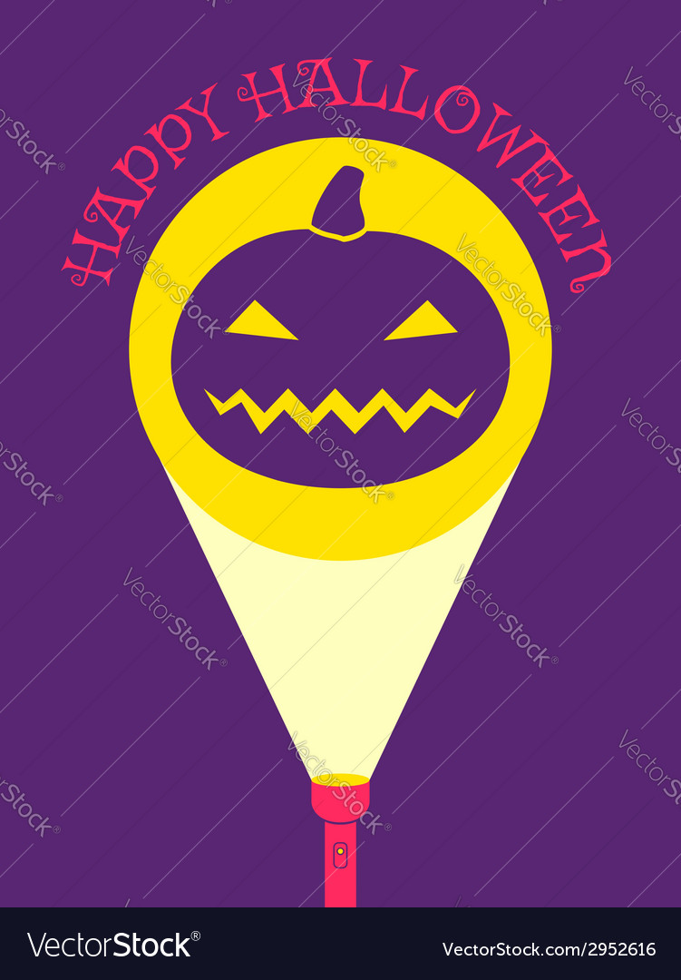 Flashlight pumpkin vector