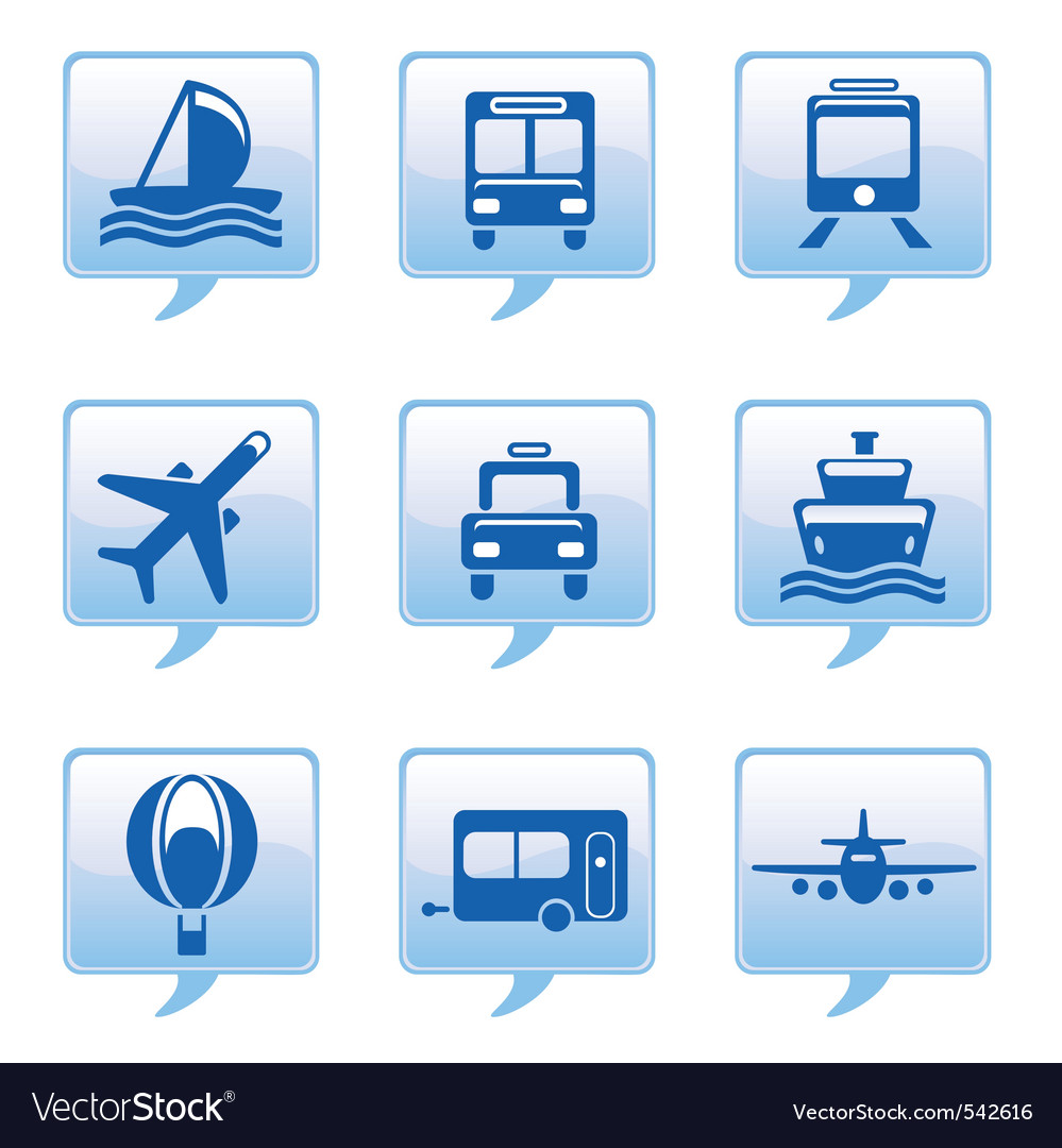 Vehicle icons vector | Price: 1 Credit (USD $1)