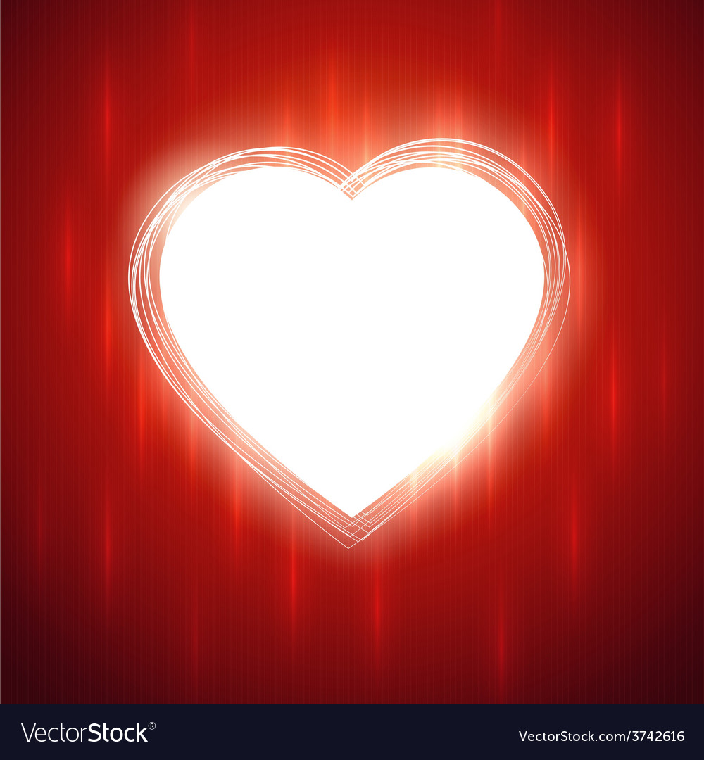 White heart shape on red stylish background vector | Price: 1 Credit (USD $1)