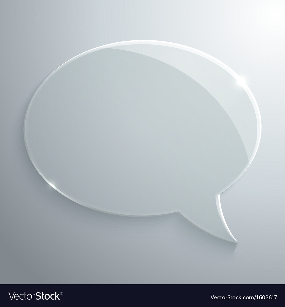 Abstract glass speech bubble vector | Price: 1 Credit (USD $1)