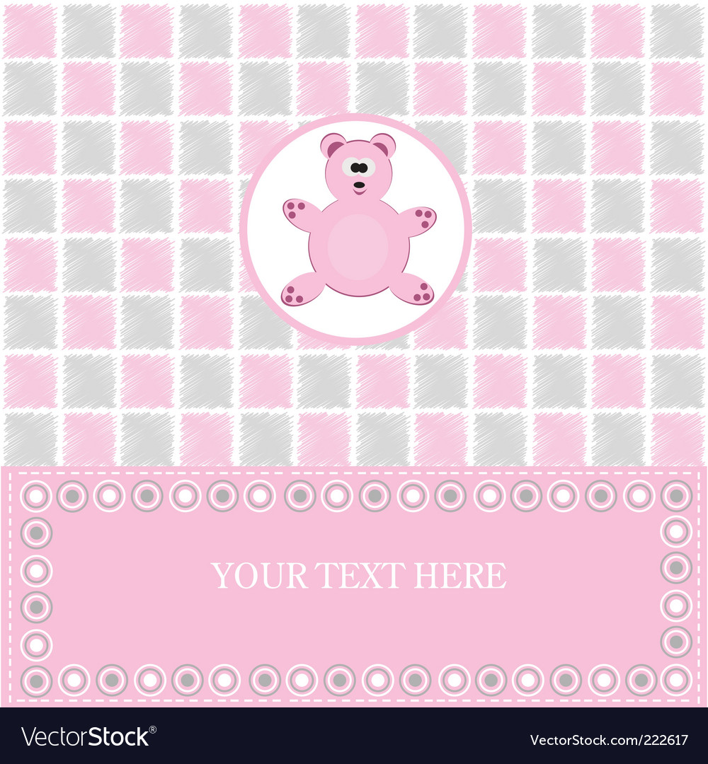 Baby greeting card vector | Price: 1 Credit (USD $1)