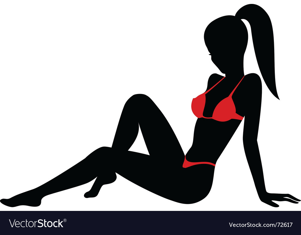 Beach babe vector | Price: 1 Credit (USD $1)