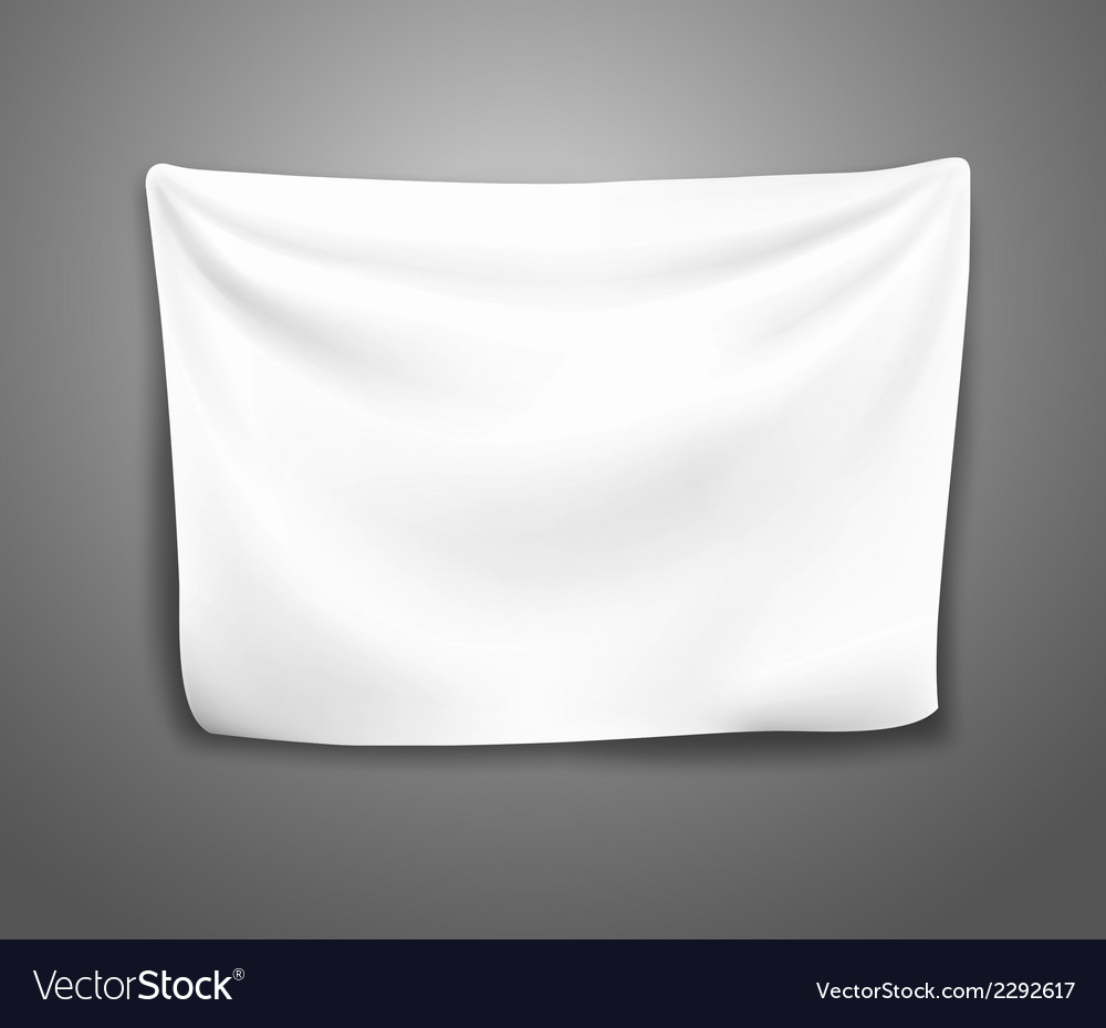 Blank banner with pleats vector | Price: 1 Credit (USD $1)