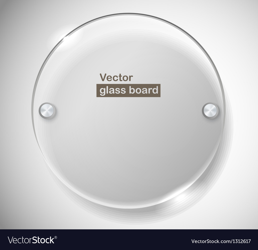 Circle advertising glass board vector | Price: 1 Credit (USD $1)