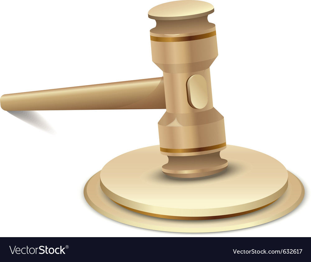 Gavel vector | Price: 1 Credit (USD $1)