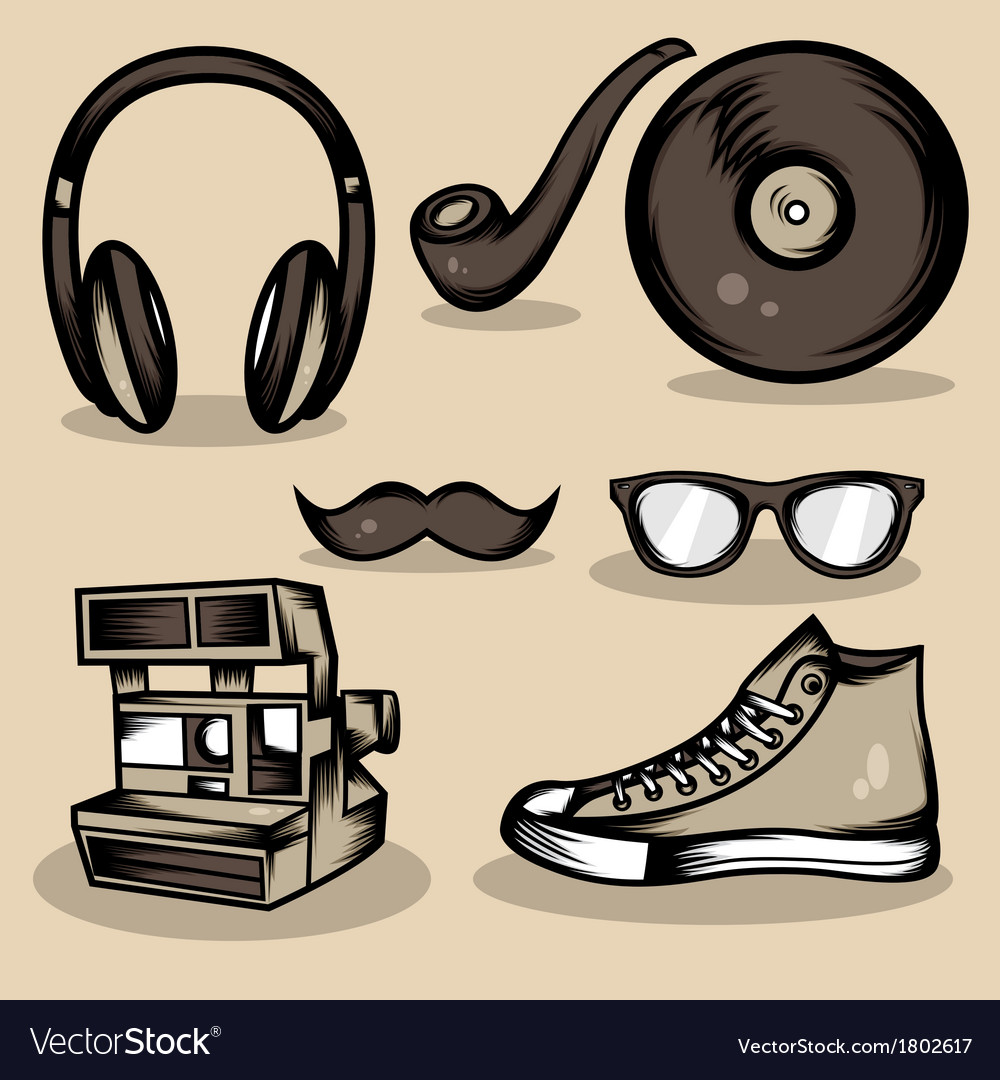 Hipster stuff collection vector | Price: 1 Credit (USD $1)