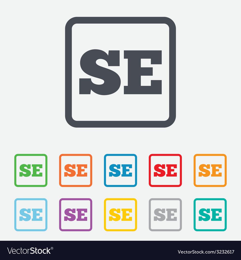 Swedish language sign icon se translation vector   Price: 1 Credit (USD $1)