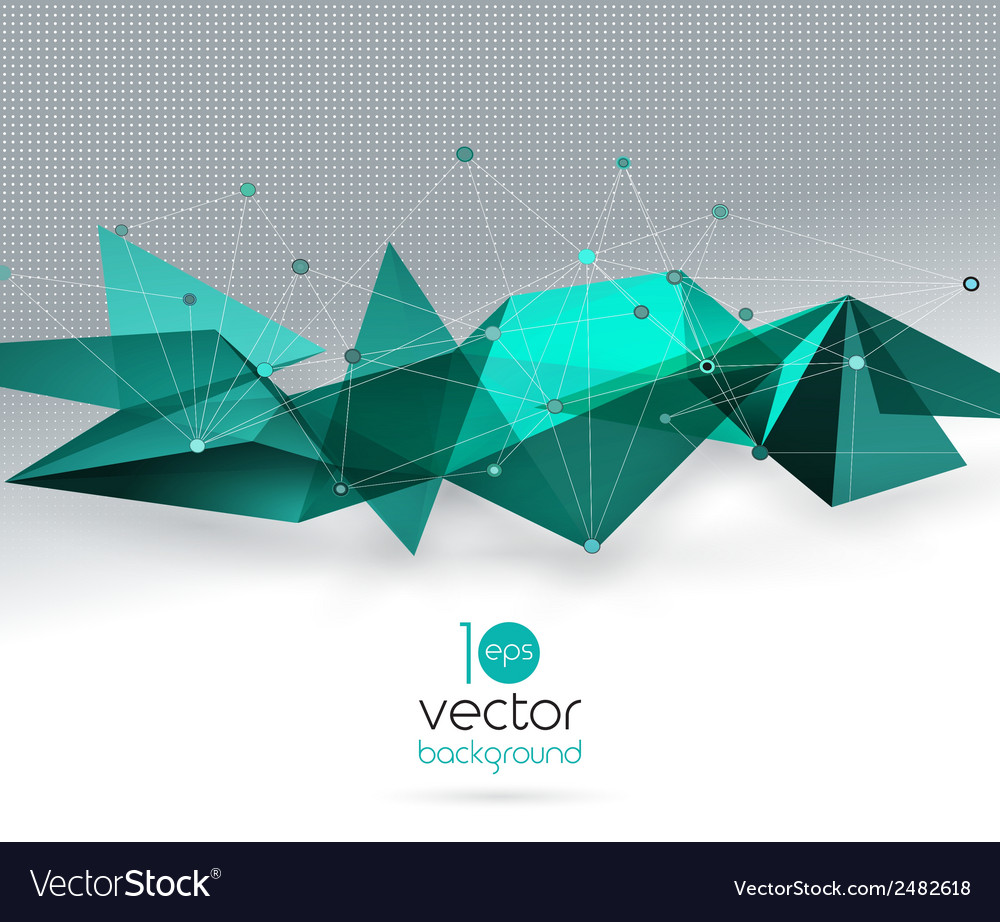 Abstract geometric background with triangle vector   Price: 1 Credit (USD $1)