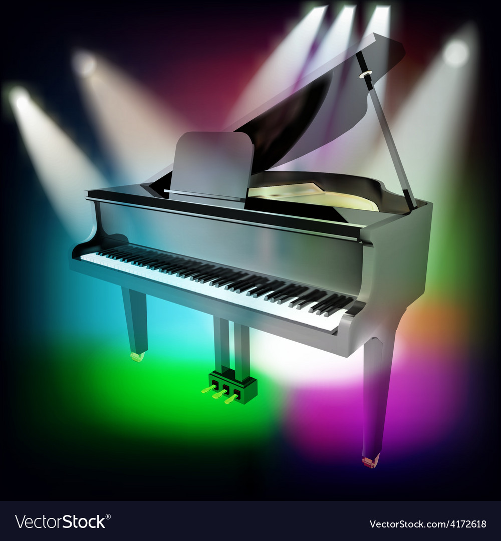 Abstract music background with grand piano and vector | Price: 3 Credit (USD $3)