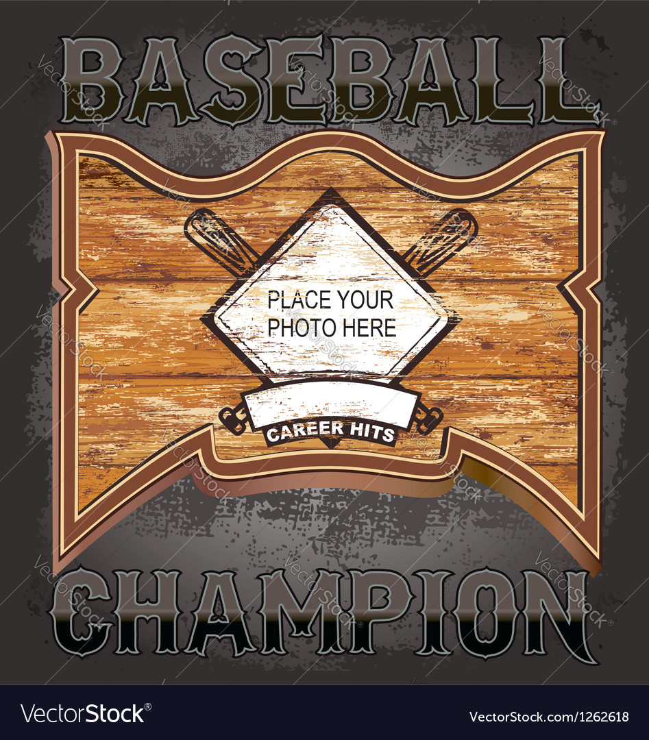 Baseball wood frame vector | Price: 1 Credit (USD $1)