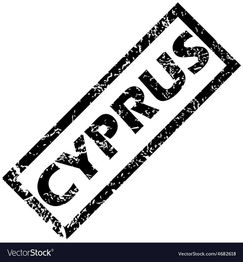 Cyprus rubber stamp vector | Price: 1 Credit (USD $1)