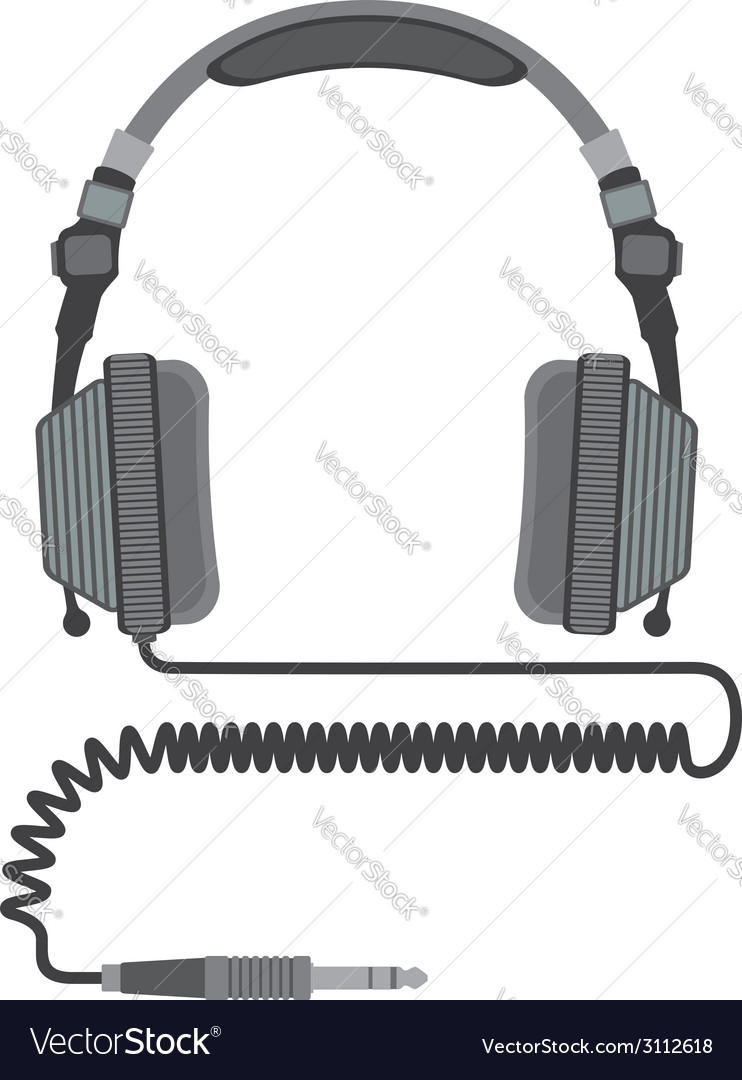 Dj headphines vector | Price: 1 Credit (USD $1)