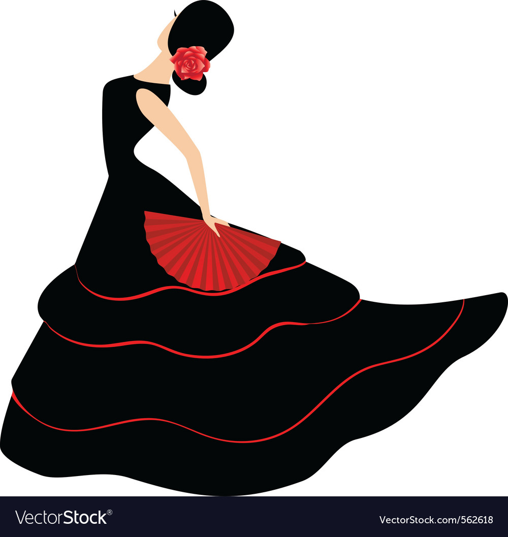 Flamenco dancer vector