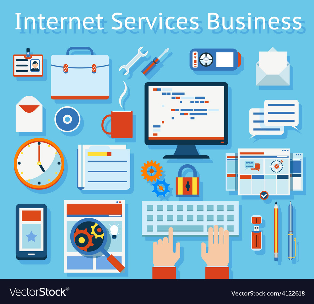 Internet service business concept graphic design vector | Price: 1 Credit (USD $1)