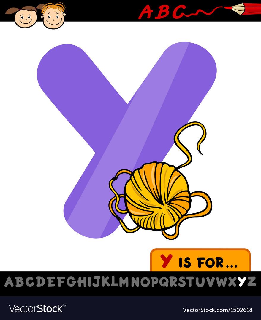 Letter y with yarn cartoon vector   Price: 1 Credit (USD $1)