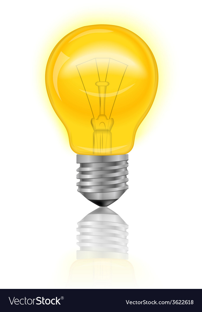 Light bulb realistic vector | Price: 1 Credit (USD $1)