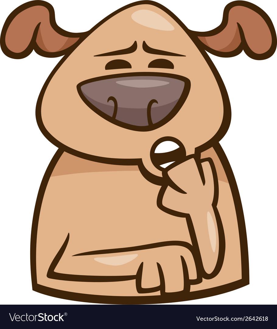 Mood sleepy dog cartoon vector | Price: 1 Credit (USD $1)