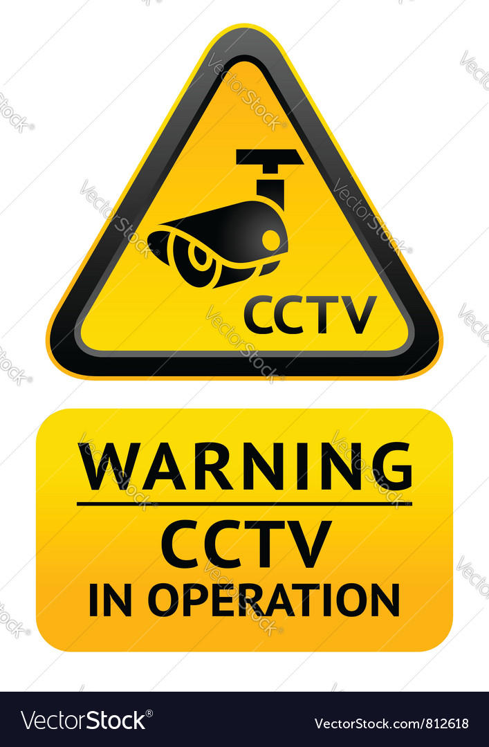 Notice video surveillance symbol vector | Price: 1 Credit (USD $1)