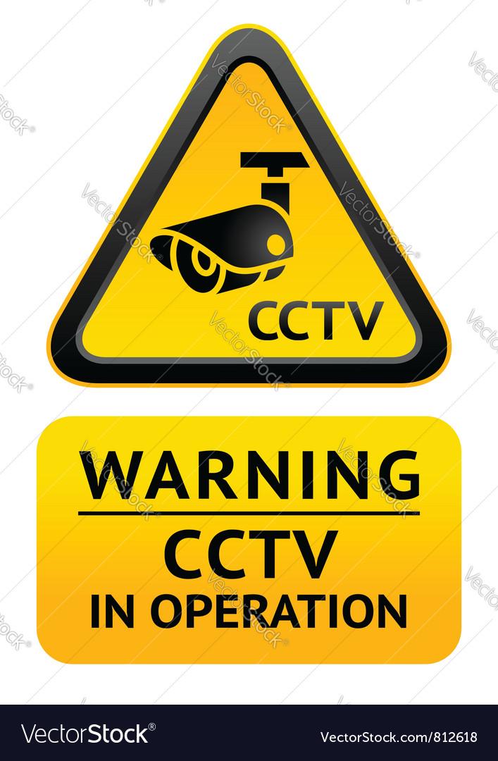 Notice video surveillance symbol vector | Price: 1 Credit (USD $1)