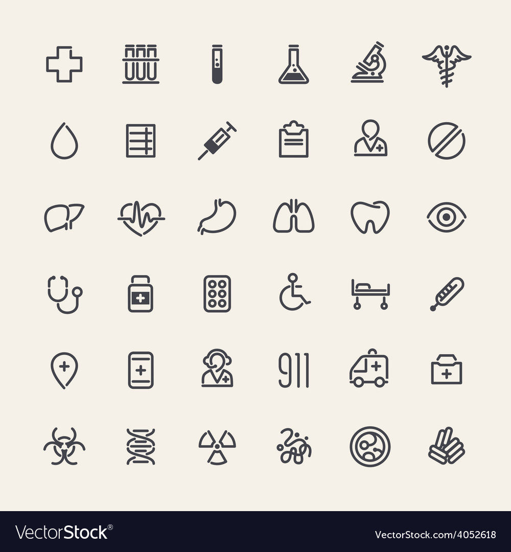 Set of 36 medical icons vector   Price: 1 Credit (USD $1)