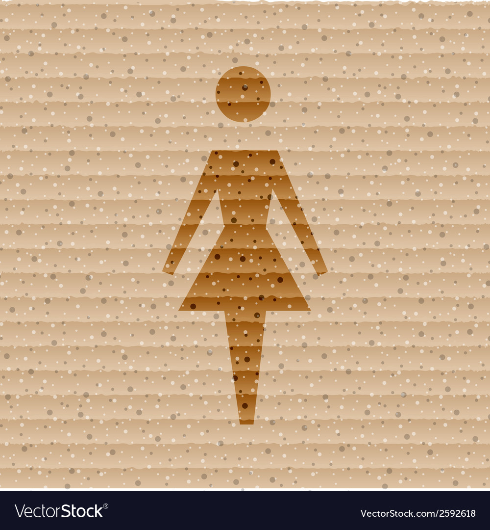 Woman restroom flat modern web button and space vector | Price: 1 Credit (USD $1)