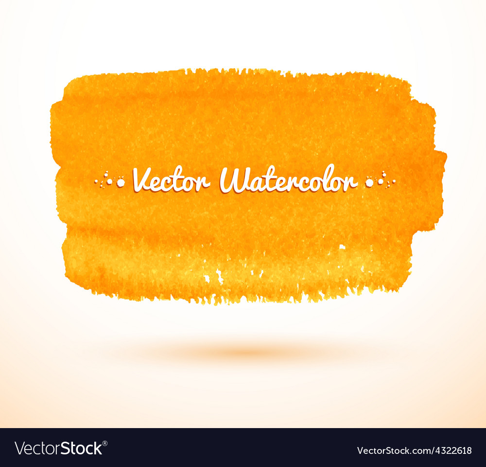 Yellow watercolor banner vector | Price: 1 Credit (USD $1)