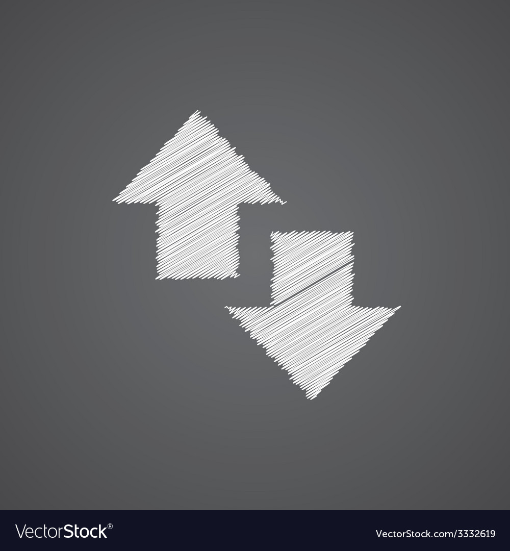 2 side arrow sketch logo doodle icon vector   Price: 1 Credit (USD $1)