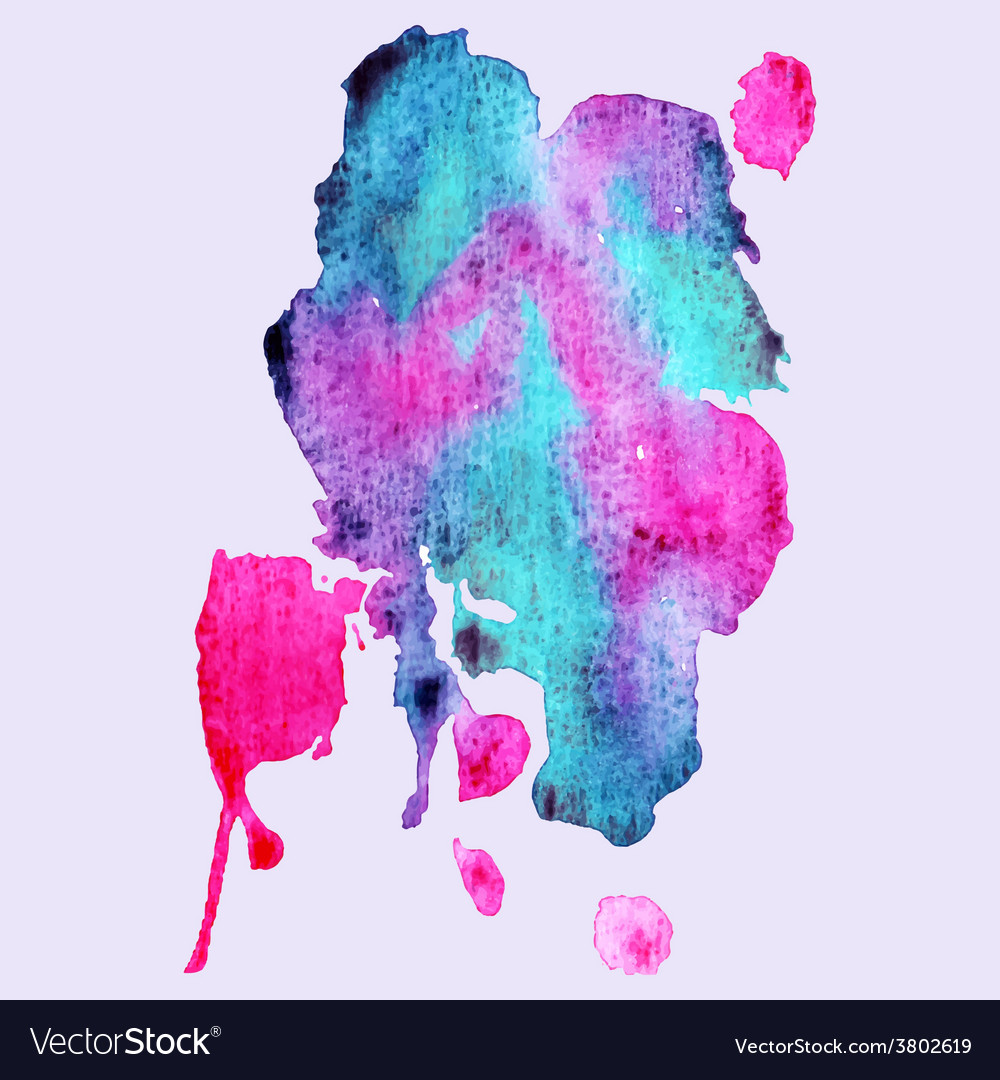 Abstract hand paint watercolor background vector   Price: 1 Credit (USD $1)