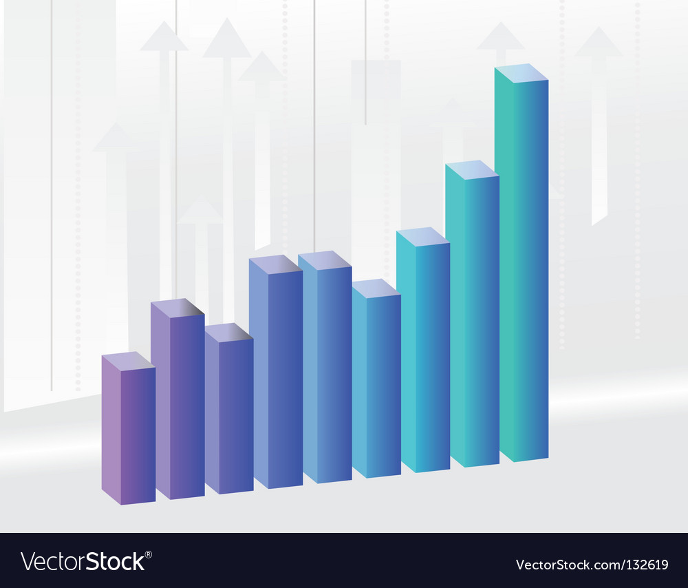 Background to the growth charts vector | Price: 1 Credit (USD $1)