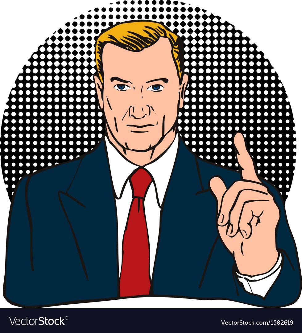 Businessman finger number one vector | Price: 1 Credit (USD $1)