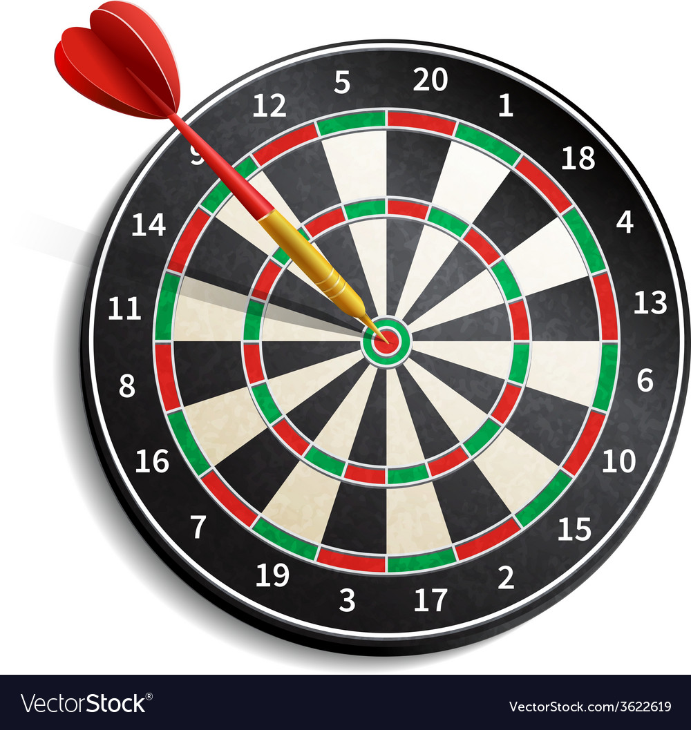 Dart board realistic vector | Price: 1 Credit (USD $1)