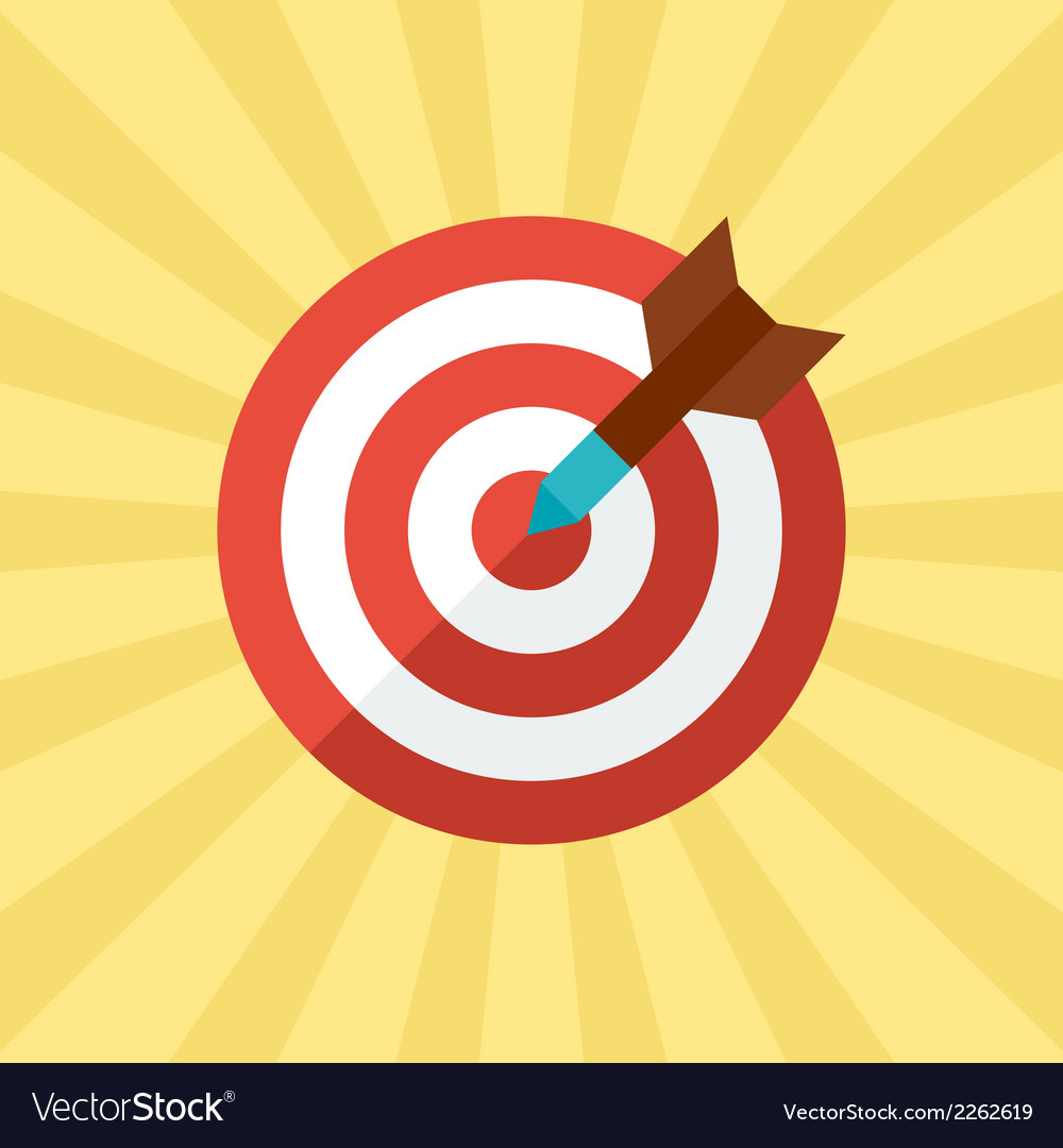 Darts target concept in flat style vector | Price: 1 Credit (USD $1)