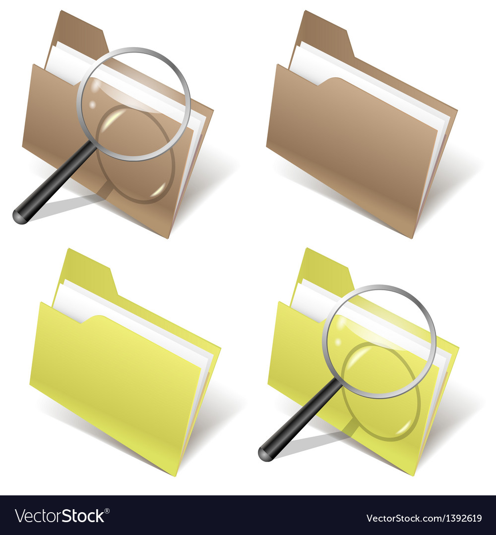 Folder and magnifier vector | Price: 1 Credit (USD $1)
