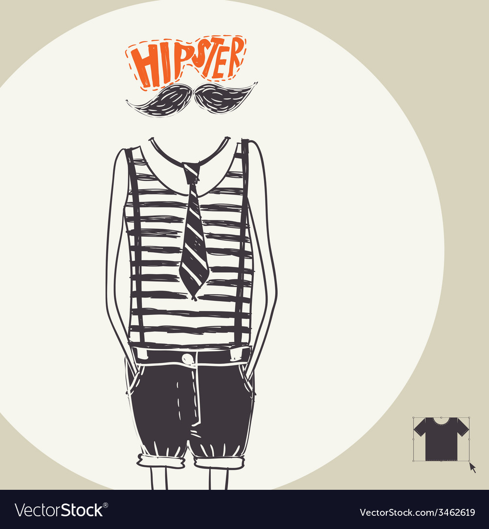 Hipster background in retro style vector | Price: 1 Credit (USD $1)