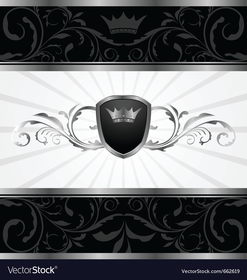 Ornate dark decorative frame - vector | Price: 1 Credit (USD $1)