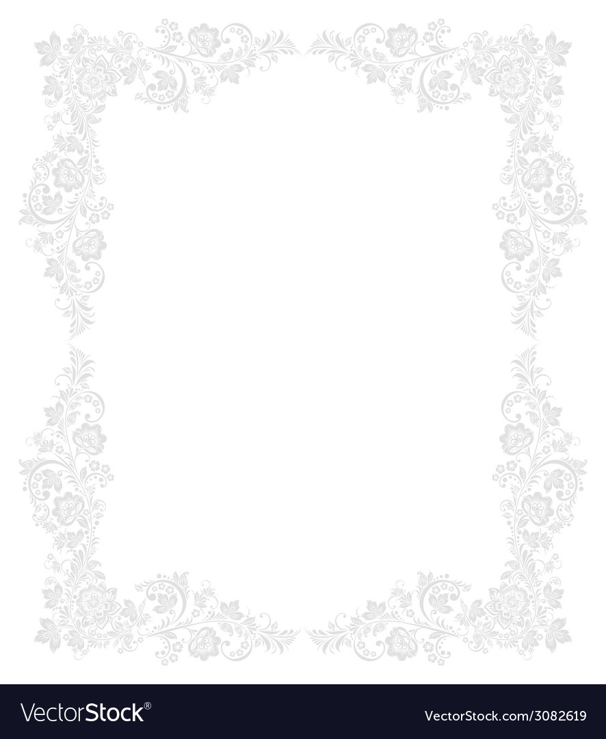 Ornate floral frame in russian vector   Price: 1 Credit (USD $1)