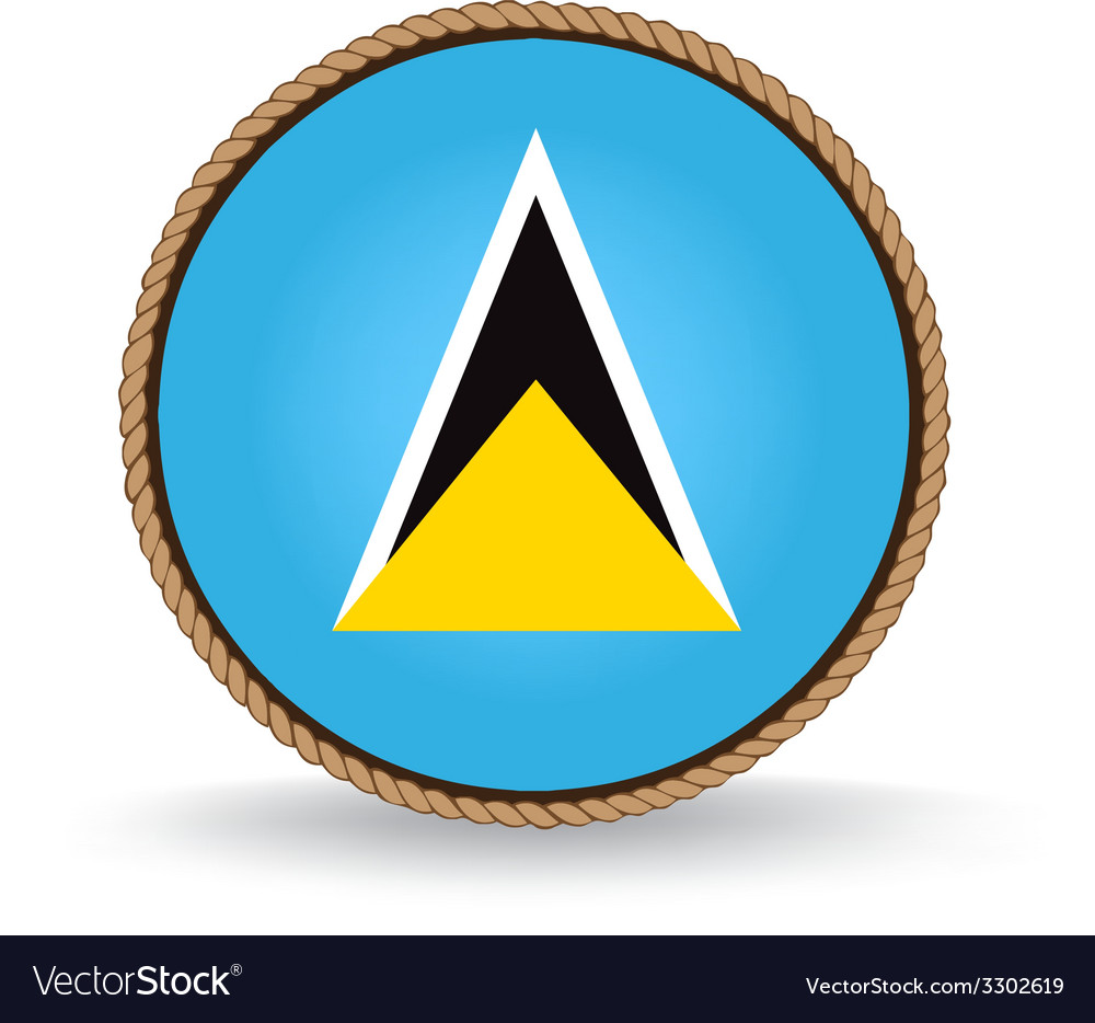 Saint lucia seal vector | Price: 1 Credit (USD $1)