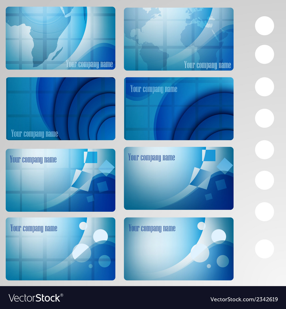 Set of buisness card blue vector | Price: 1 Credit (USD $1)
