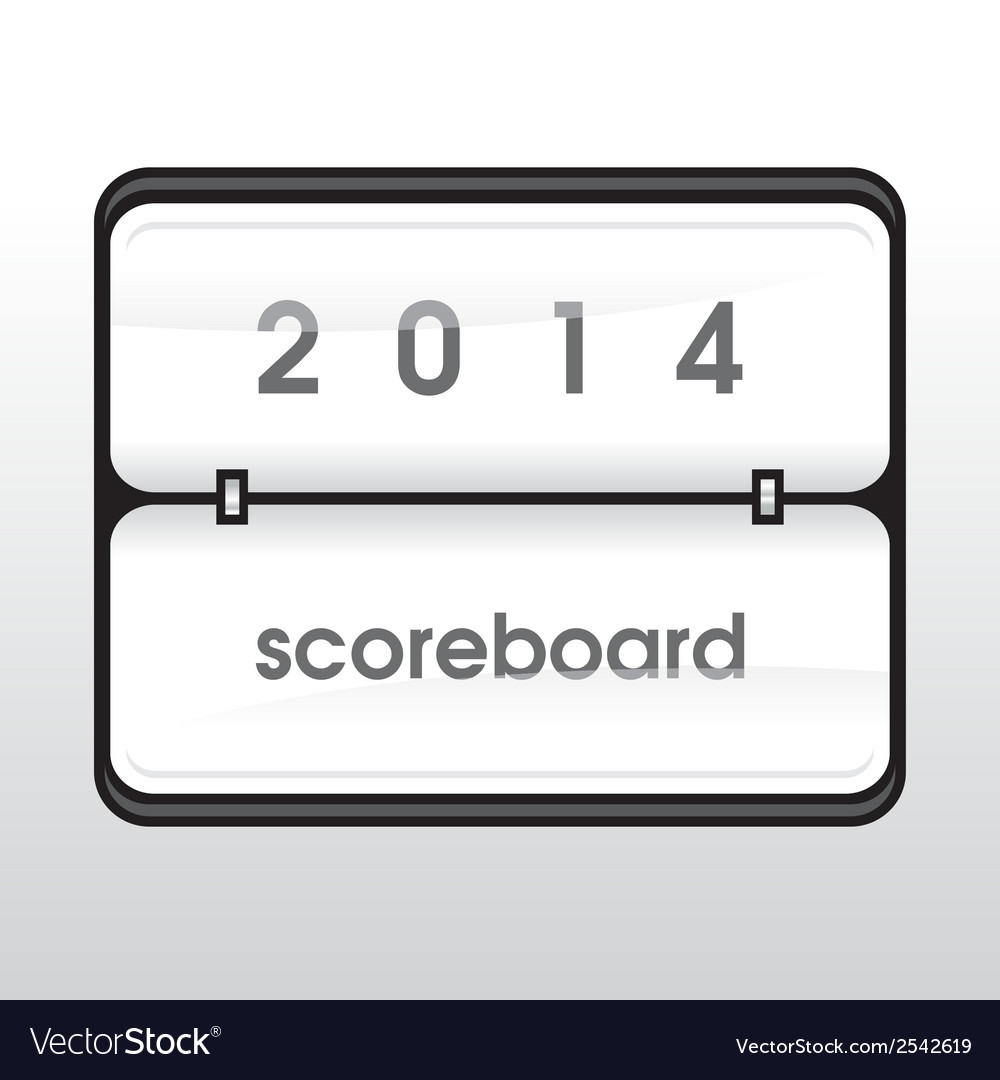 White mechanical scoreboard vector | Price: 1 Credit (USD $1)